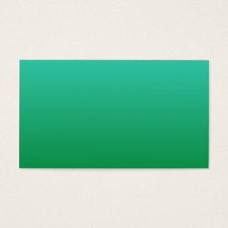 Cartão De Visitas Turquesa Ombre verde