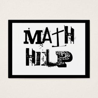 Cartão De Visitas Tutor 5 da matemática