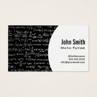Cartão De Visitas Tutor da matemática das equações da matemática