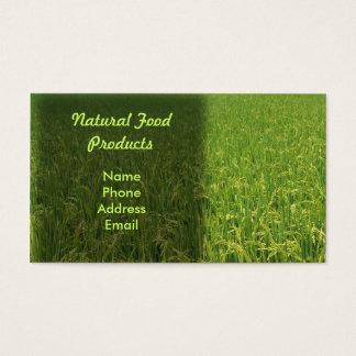 Cartão De Visitas Um campo verde luxúria do arroz