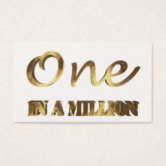 Cartão De Visitas Um em milhão tipografias elegantes de Brown do