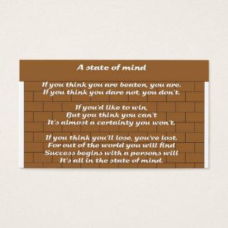 Cartão De Visitas Um estado de ânimo