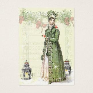 Cartão De Visitas Um Noel feliz Jane Austen inspirou o Tag b do