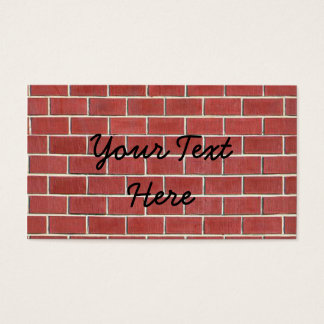Cartão De Visitas Um outro tijolo na parede