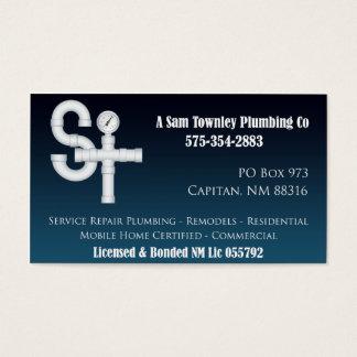 Cartão De Visitas Um Sam Townley Encanamento Empresa