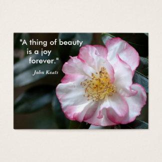 """Cartão De Visitas """"Uma coisa da beleza    é uma alegria…"""