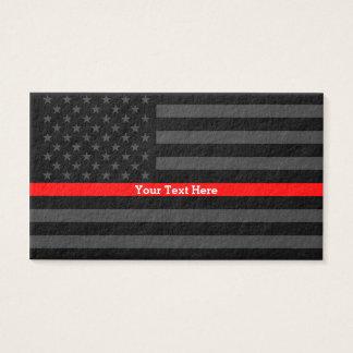 Cartão De Visitas Uma linha vermelha fina acento personalizado