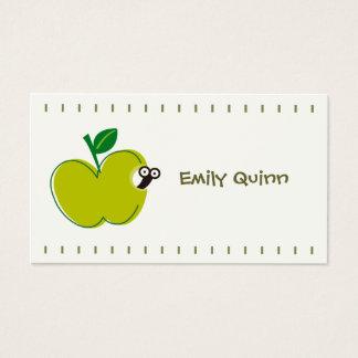 Cartão De Visitas uma maçã verde & um sem-fim pequeno