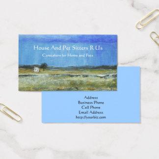 Cartão De Visitas Uma tempestade perfeita, pintura de paisagem da