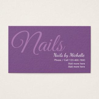 Cartão De Visitas Unhas à moda simples