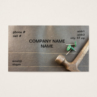 Cartão De Visitas unhas de feltro com martelo