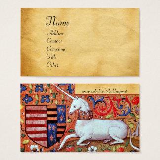 Cartão De Visitas UNICÓRNIO/pergaminho antigo de Brown