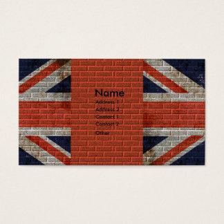 Cartão De Visitas Union Jack resistido na parede de tijolo