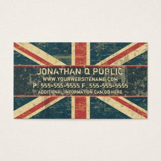 Cartão De Visitas Union Jack sujo