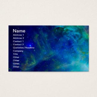 Cartão De Visitas Universo cósmico do espaço da galáxia da nebulosa