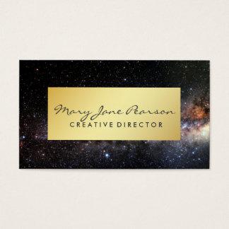Cartão De Visitas Universo Luxe da galáxia da nebulosa da Via Láctea