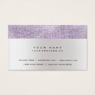 Cartão De Visitas Urbano de prata cinzento Amethyst mínimo de