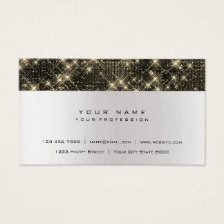 Cartão De Visitas Urbano de prata cinzento do preto mínimo do ouro