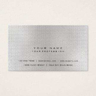 Cartão De Visitas Urbano mínimo cinzento da rede metálica de prata