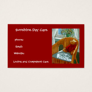 Cartão De Visitas Urso de ursinho no Pastel: Negócio do centro de