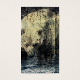 Cartão De Visitas Urso de urso ocidental primitivo da floresta do