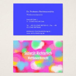 Cartão De Visitas Uso máximo da cor