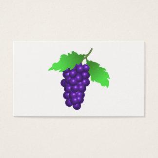 Cartão De Visitas Uvas