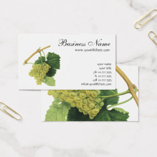 Cartão De Visitas Uvas para vinho brancas na videira, fruta da