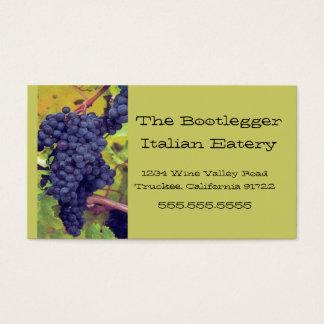 Cartão De Visitas Uvas Resturant