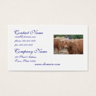 Cartão De Visitas Vaca das montanhas