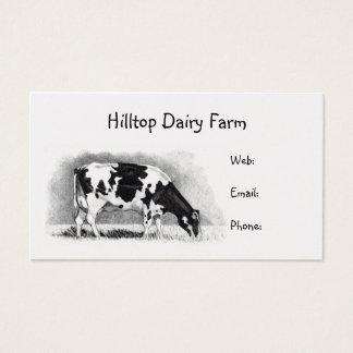 Cartão De Visitas Vaca de Holstein no lápis: Leiteria, leite,