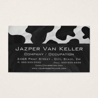 Cartão De Visitas Vaca do monograma preto e branco