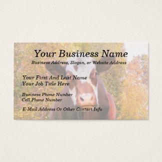 Cartão De Visitas Vaca vermelha curiosa