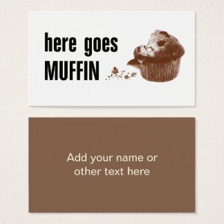 Cartão De Visitas Vai aqui o muffin