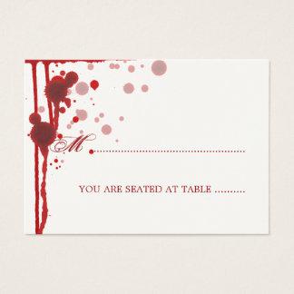Cartão De Visitas Vampiro o Dia das Bruxas que Wedding o sangue