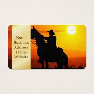 Cartão De Visitas Vaqueiro-Vaqueiro-luz do sol-ocidental-país do por