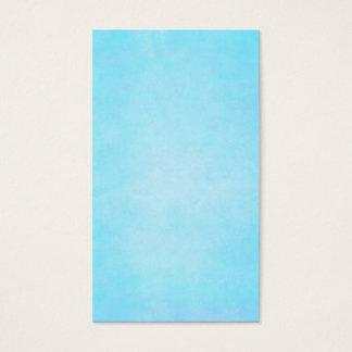 Cartão De Visitas Vazio claro azul do modelo da aguarela da cerceta