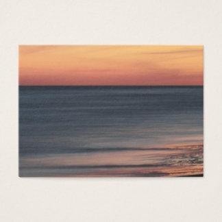 Cartão De Visitas Vazio elegante do por do sol da praia
