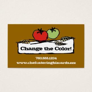 Cartão De Visitas Vegan feito sob encomenda do trigo do tomate da