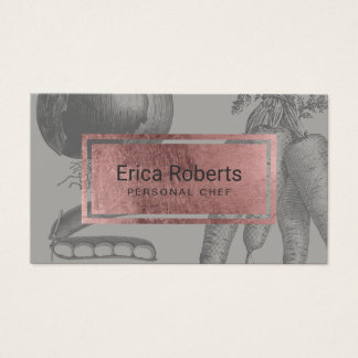 Cartão De Visitas Vegetais cor-de-rosa do vintage da etiqueta do