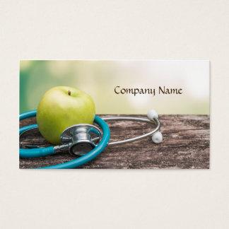Cartão De Visitas Vegetais de frutas/cartão saudável da