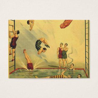 Cartão De Visitas Velha escola SUPERIOR do mergulho