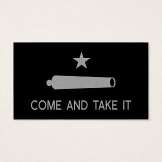 Cartão De Visitas Vem tomar-lhe o ~ Texas da bandeira