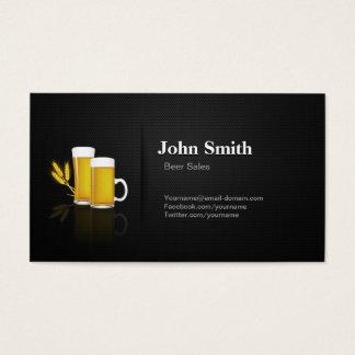 Cartão De Visitas Vendas da cerveja - malha preta superior