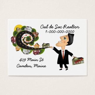 Cartão De Visitas Vendedor do mediador imobiliário