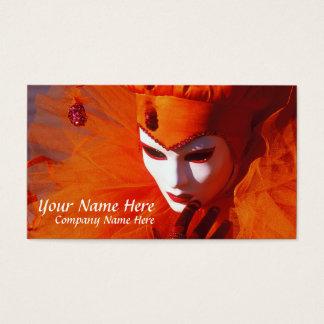 Cartão De Visitas Veneza, Italia (IT) - traje alaranjado do carnaval