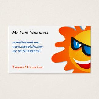 Cartão De Visitas Verão legal Sun
