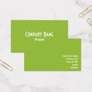 Cartão De Visitas Verde
