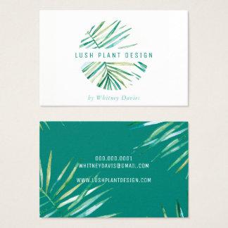 Cartão De Visitas Verde botânico luxúria da vida do LOGOTIPO EM