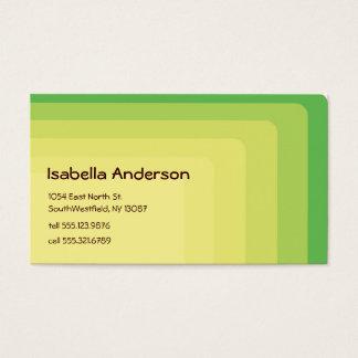 Cartão De Visitas Verde Boxy